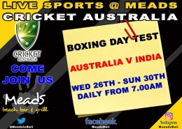 Meads In Bali Cricket : Boxing Day Test LIVE