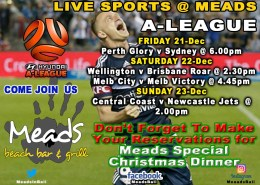 Meads Sports A-League Pre-Christmas Schedule