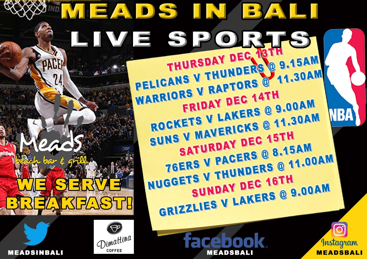 Where To Watch Nba In Bali Meads Beach Bar Grill
