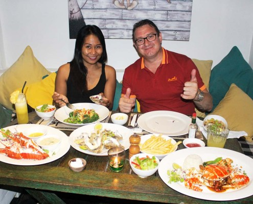 Fresh Seafood Prepared in the Style of Meads Bali
