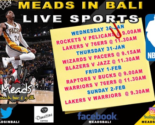 Meads in Bali Sports Schedule NBA