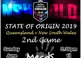 2019 State of Origin Game 2 Live Meads in Bali