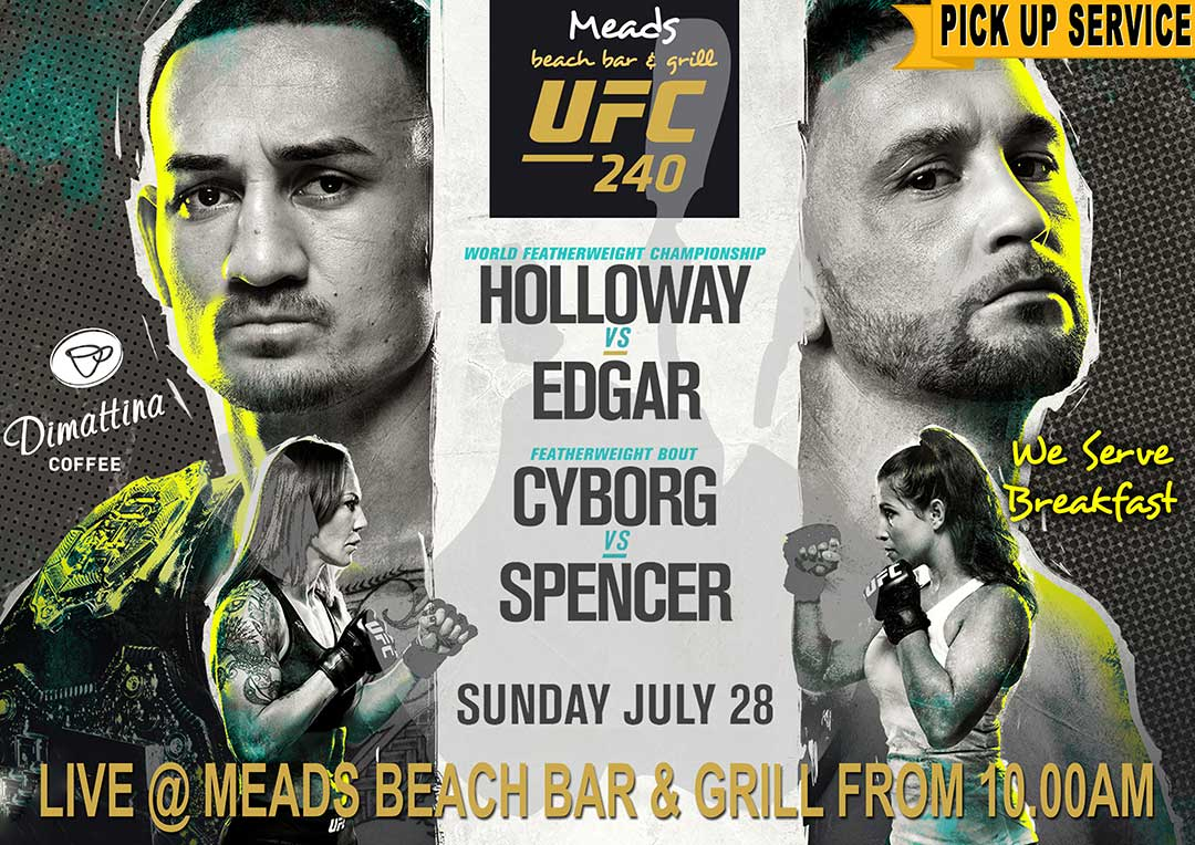 UFC 240 Live Meads Beach Bar & Grill Bali