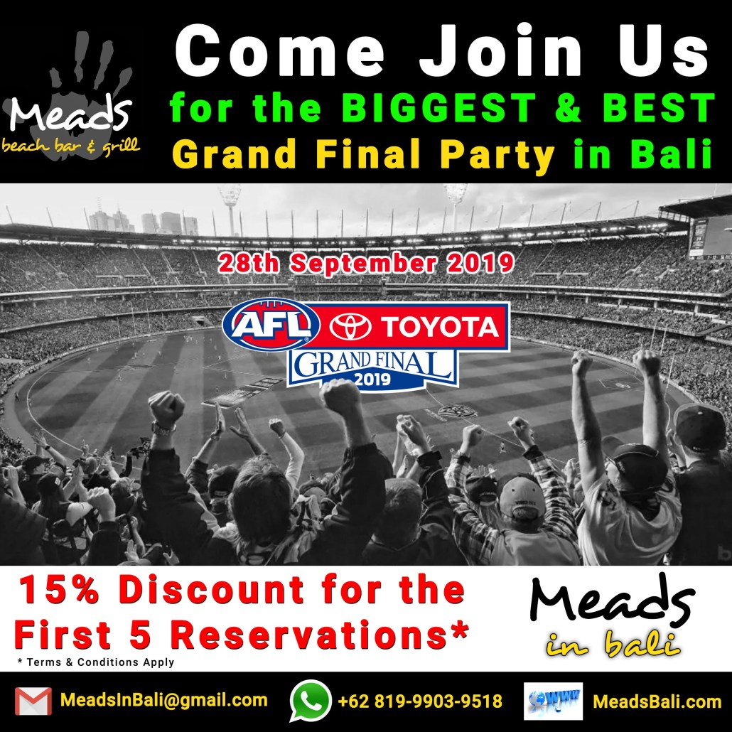 Meads In Bali AFL Grand Final 2019