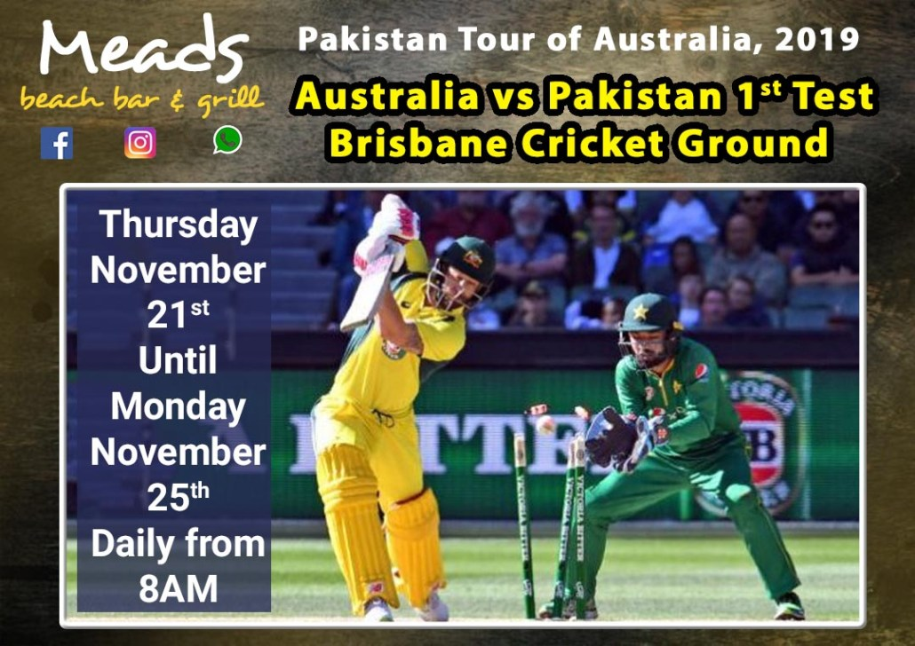 Meads in Bali Sports Australia vs Pakistan 1st Test 2019 Brisbane