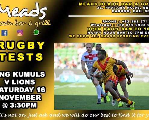 Meads in Bali Sports Rugby Tests