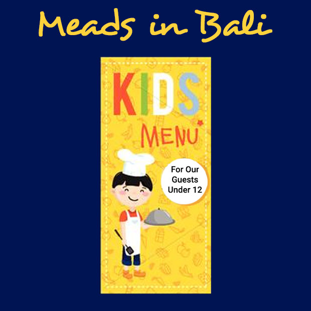 Meads Beach Bar Grill Bali Kids Menu
