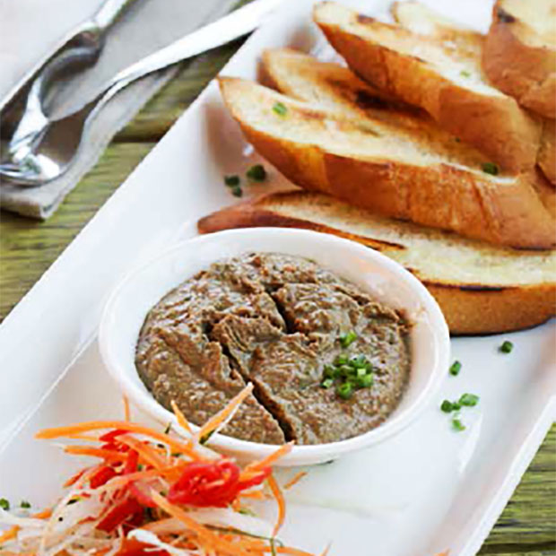 CHICKEN LIVER PATE with Grilled Baguette