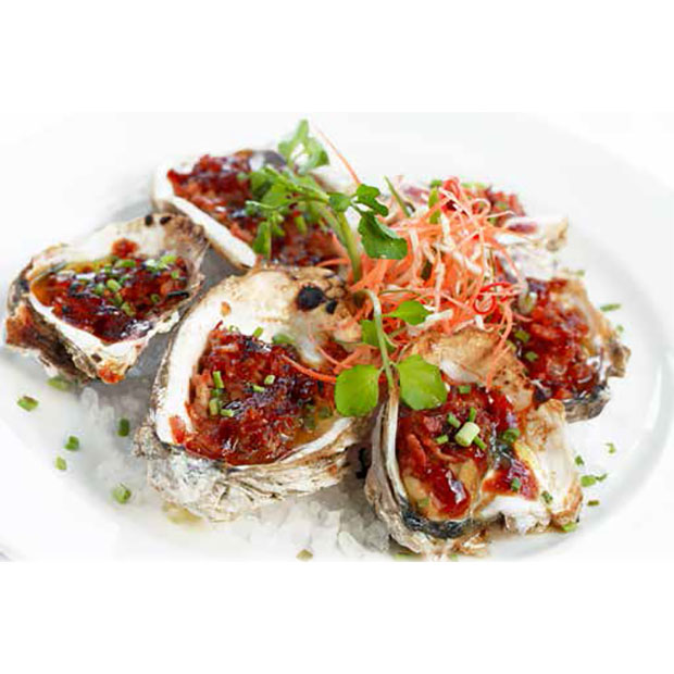OYSTERS KILPATRICK WITH BACON & WORCESTER SAUCE
