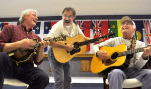 An executive meeting of the Queen's Bush Bluegrass Club