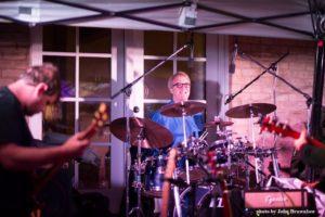 Darrell Dennis on drums