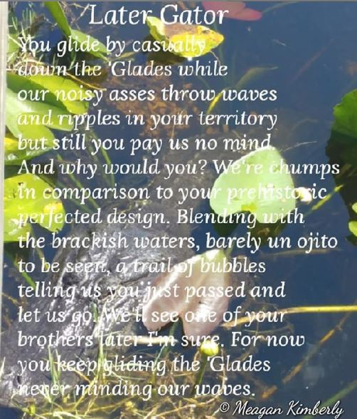 later gator poem