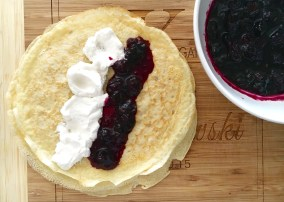 blueberry crepes assemble