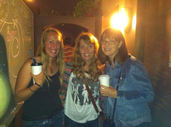 Missy (left), me (Center with weird eyes), and my sweet writer friend, Karen (right)
