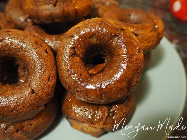 Chocolate potato doughnuts
