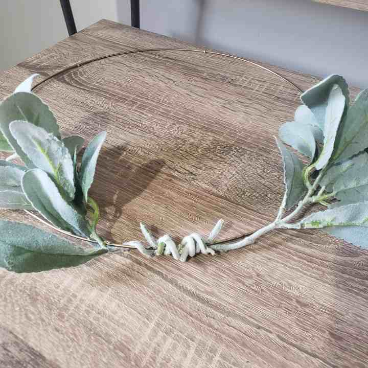 Cheap DIY Fall Hoop Wreath