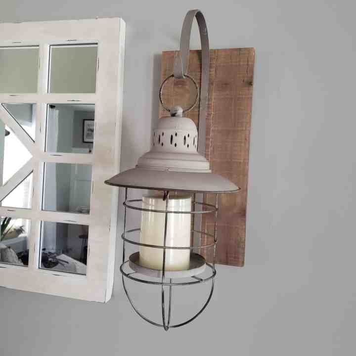 lantern to hang on the side of your mirror