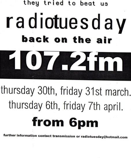 Radio Tuesday flyer