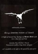 e.g. Sometime Instant CD launch flyer