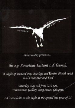 e.g. Sometime Instant CD launch flyer