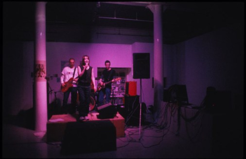 Life Without Buildings live at Transmission Gallery, e.g sometime instant, 2000