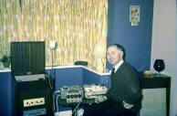 Alf Stanway recording at home