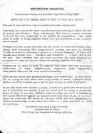 Imagination Unlimited - LTRC manifesto