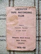 LTRC Programme 1979-1980 1