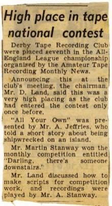 Evening Telegraph news clipping - Feb 1966