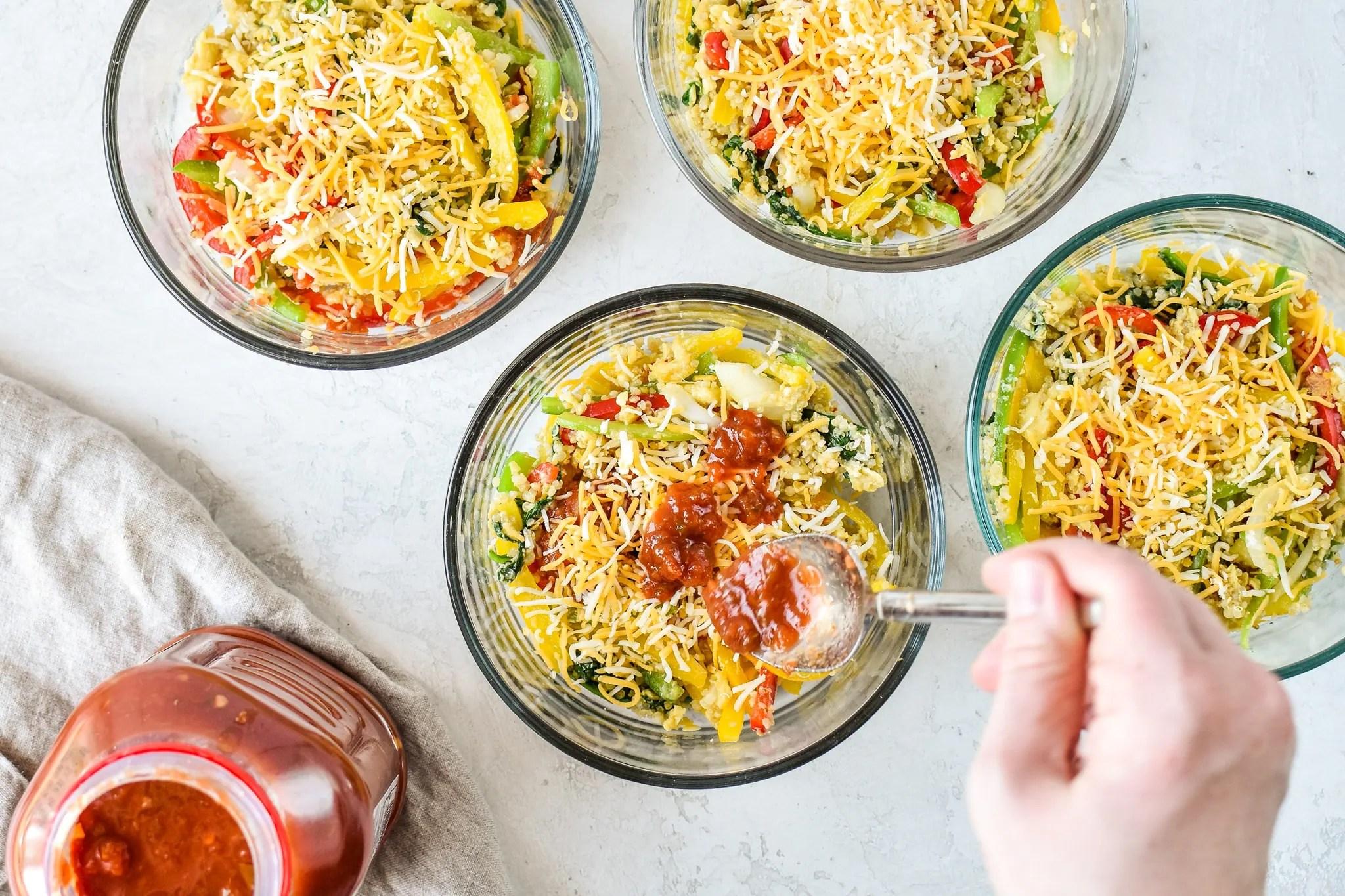 Freezer Friendly - Quinoa Egg Scramble Bowl