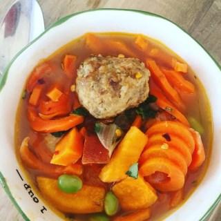 Spiralized Meatball Soup