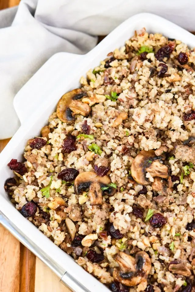 quinoa_cranberry_no_bread_holiday_stuffing_from_above