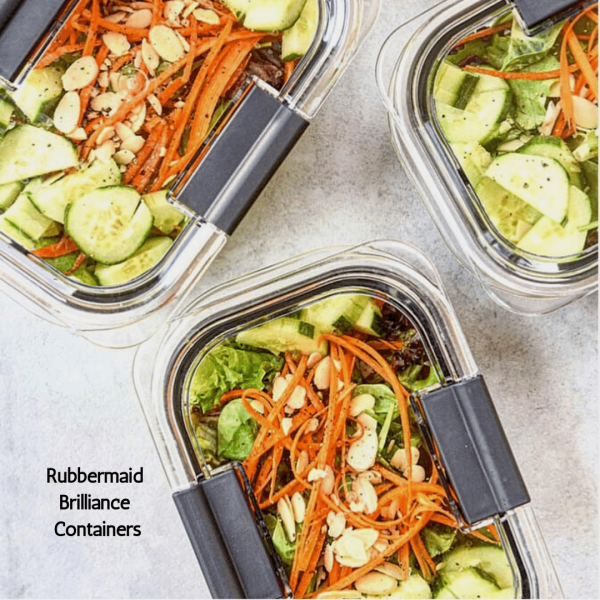 rubbermaid containers with salad