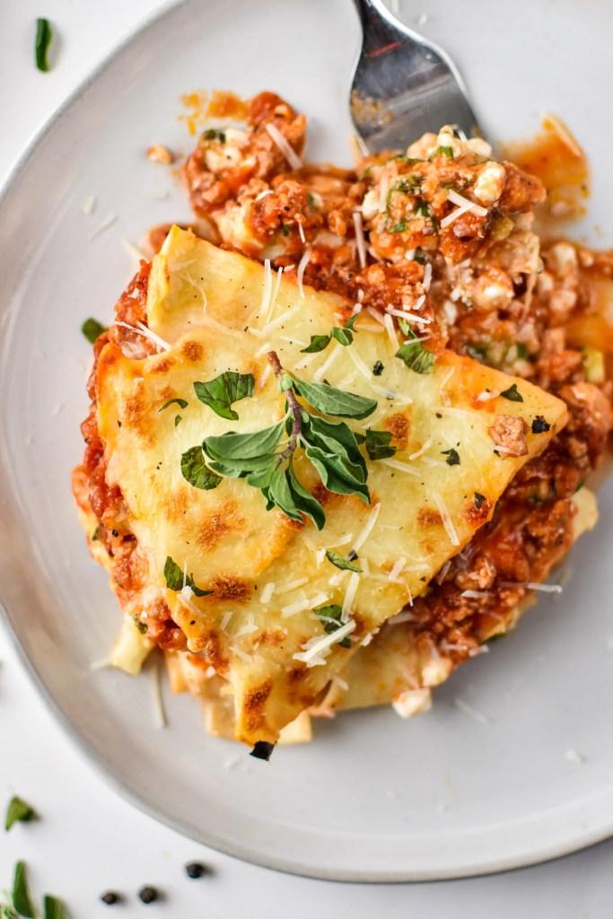sneaky-veggie-instant-pot-lasagna-plated