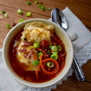 15 Minute Spiralized Pierogi Soup