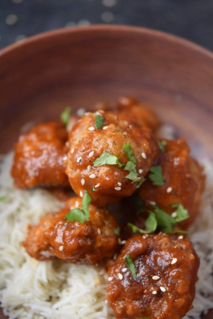 Instant Pot Sweet & Sour Meatballs with Rice {Pot in Pot ...