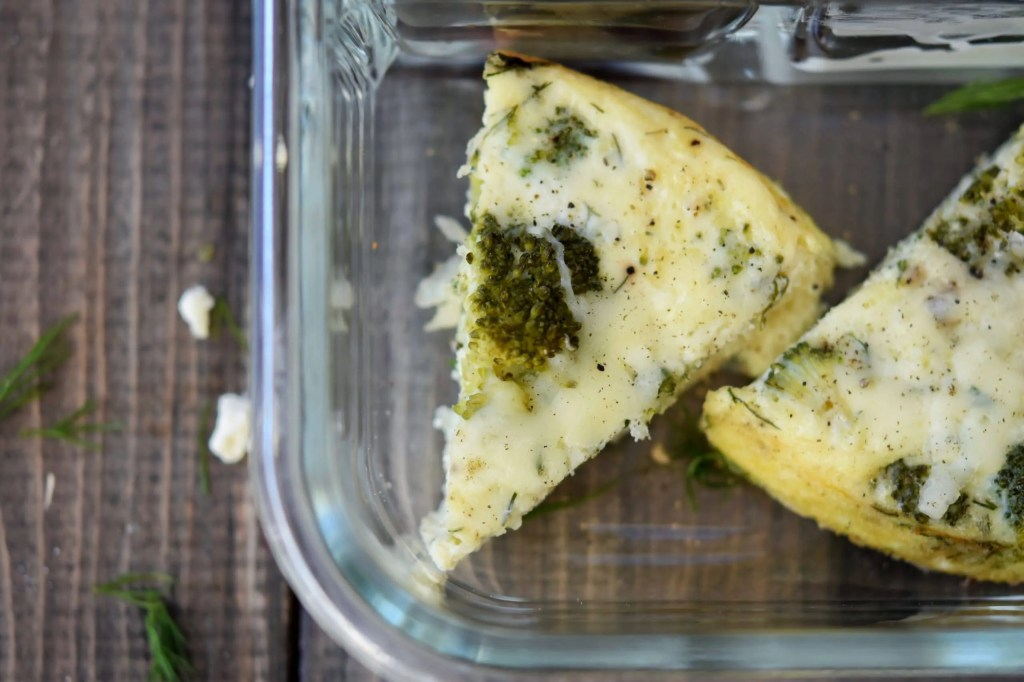 Instant Pot Frittata   Dill, Feta, & Broccoli {+ meal prep idea}