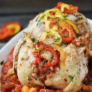 Instant Pot Spicy Italian Faux-Tisserie Chicken {Freezer Friendly}