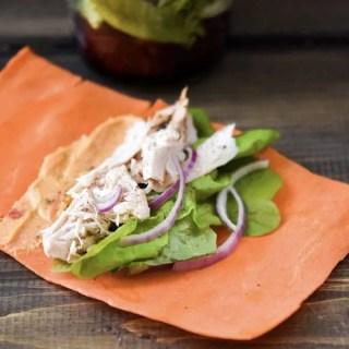 Turkey Carrot Sheet Wraps {Make Ahead}