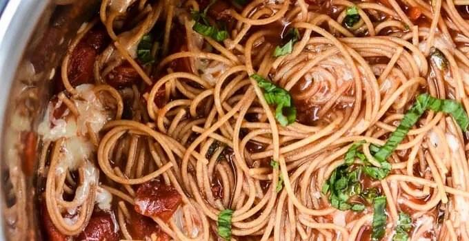 Instant Pot Bruschetta Pasta {Freezer Friendly}