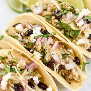 Instant Pot Salsa Verde Chicken Tacos 6