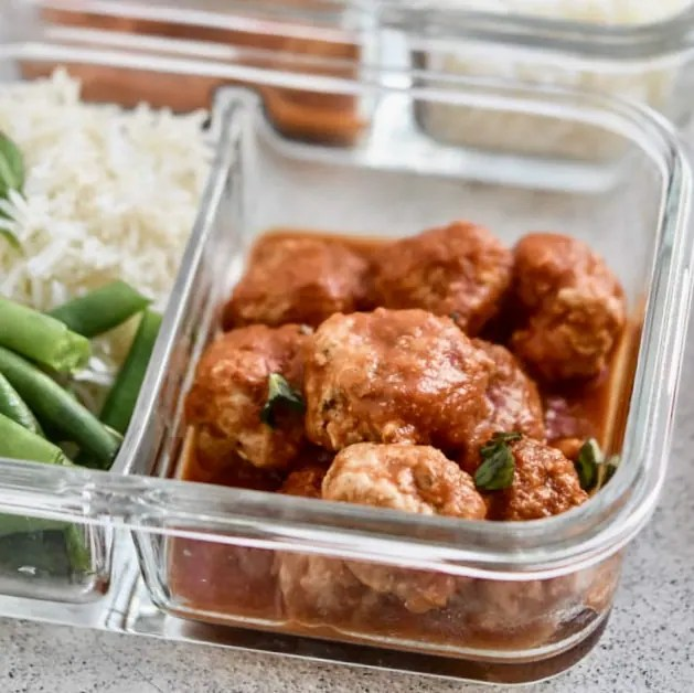 Meal Prep Instant Pot Italian Stuffed Meatballs