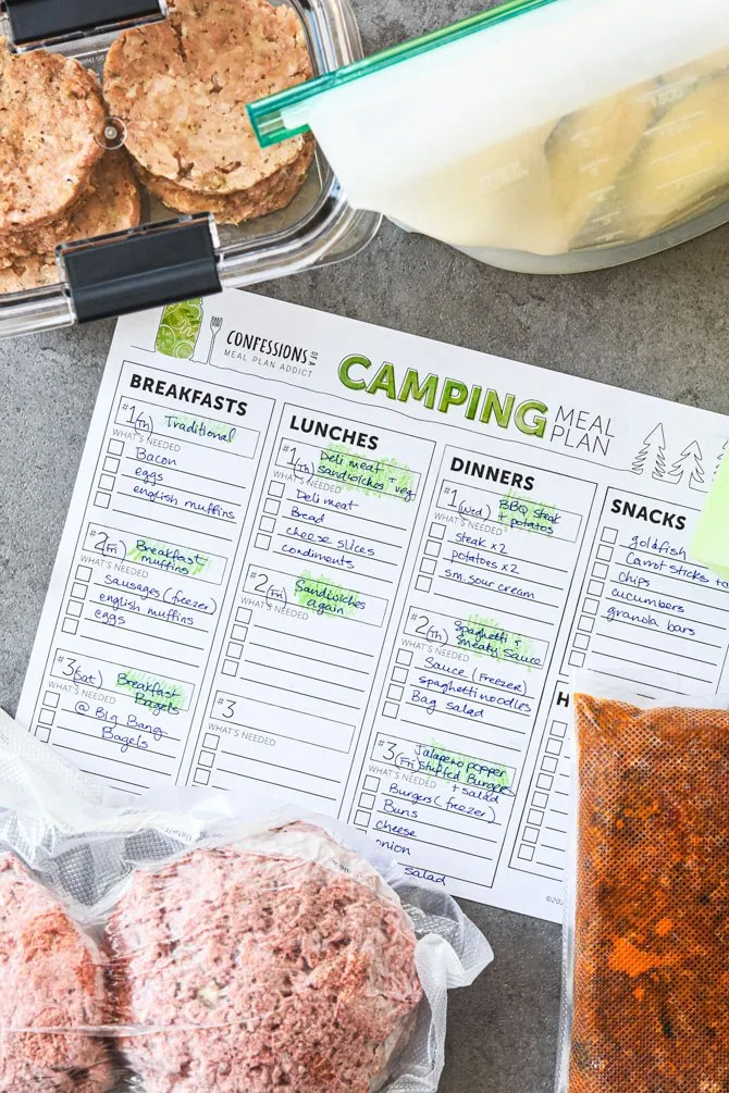 The best meal planning and prep tips for camping template