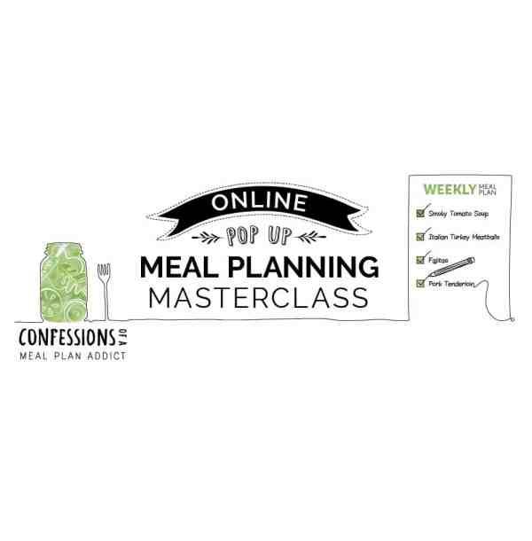Online Pop Up Meal Planning Masterclass