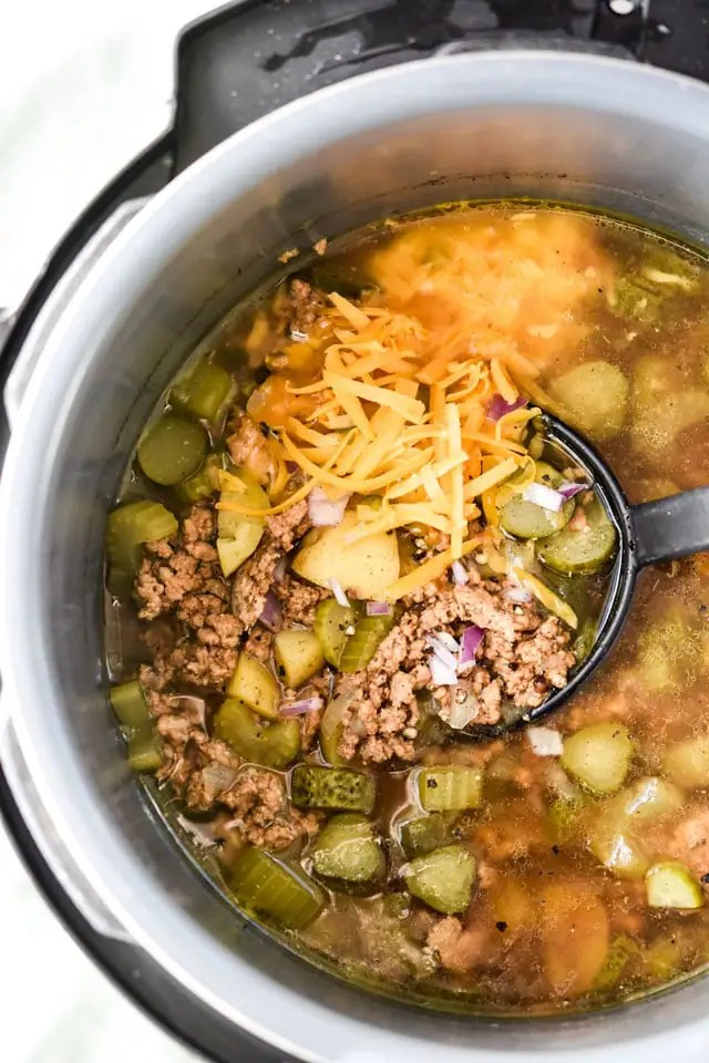Healthy-Dill-icious Cheesburger Soup5