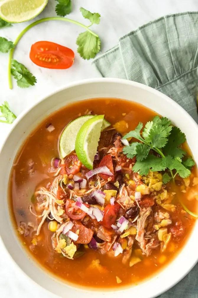 Instant Pot Mexican Fiesta Soup {Freezer Meal Prep}