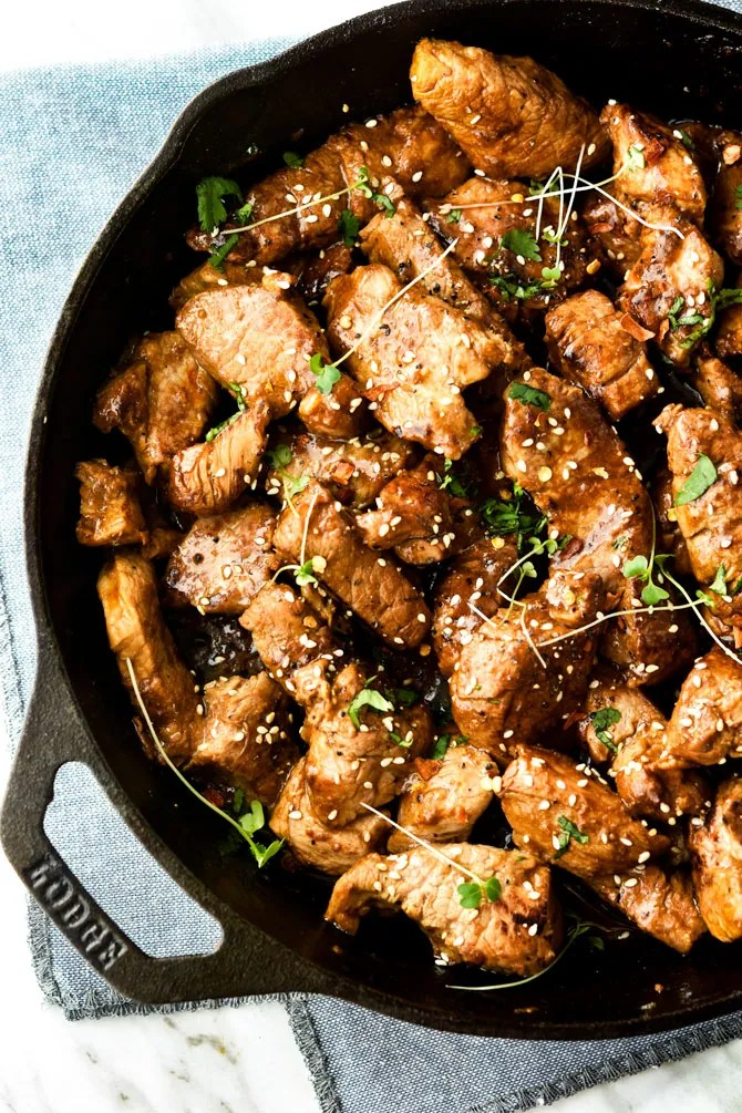 Tender-Skillet-Hunan-Pork-Bites
