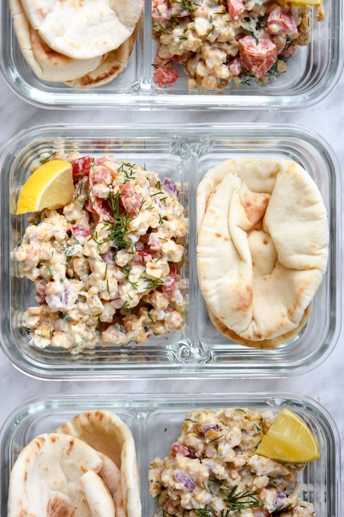 Greek Chickpea Salad Pita Meal Prep_2