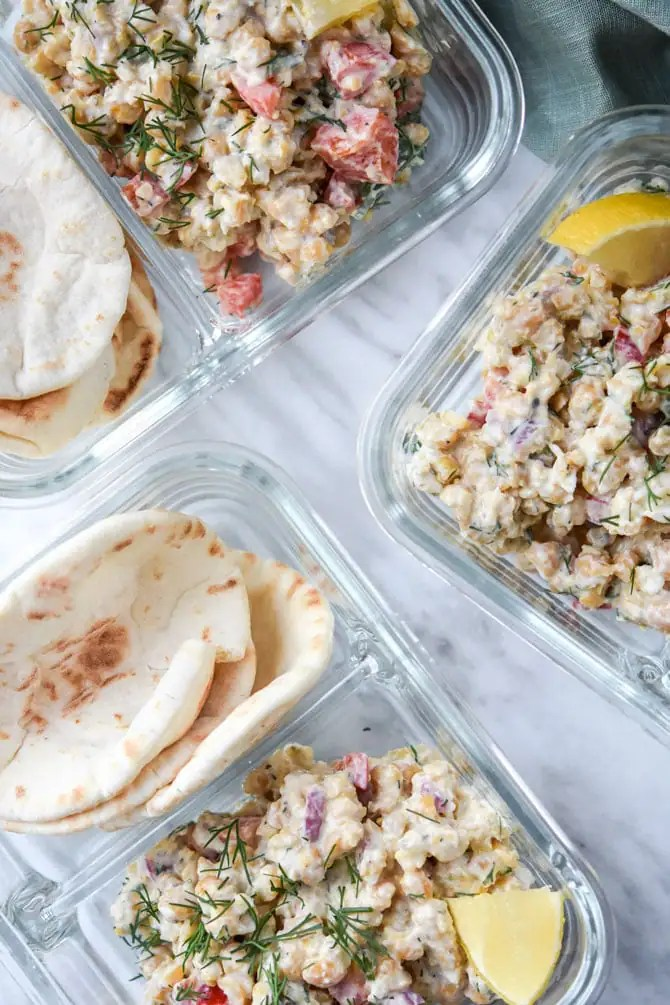 Greek Chickpea Salad Pita Meal Prep_3