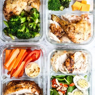 1 Rotisserie Chicken, 4 Meal Prep Lunches-3